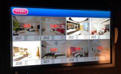 3階禁煙ルーム箇所のお部屋選択パネルが最新型タッチパネルにリニューアルされました。
